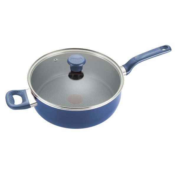 Excite 5 qt. Covered Non-Stick Jumbo Cooker Saute Pan with Lid by T-fal