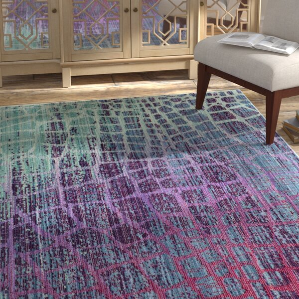 Tilburg Blue/Fuchsia Area Rug by Bungalow Rose