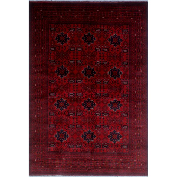 One-of-a-Kind Millar Ebun Hand-knotted Wool Red Area Rug by Bloomsbury Market
