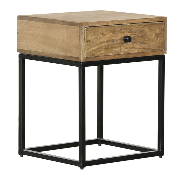 Iron Base Side Table by Union Rustic Union Rustic