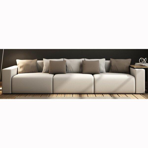 Zita Top Grain Leather Sofa by Orren Ellis