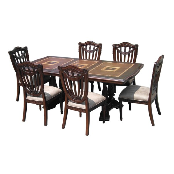 Sheraton 7 Piece Dining Set by D-Art Collection
