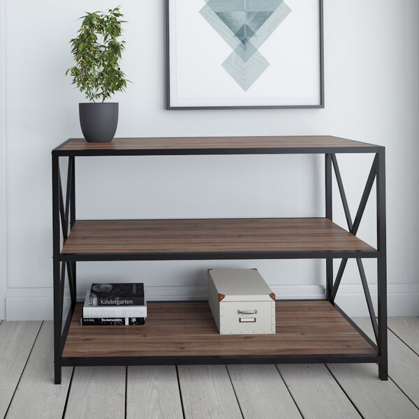 Altom X-Frame Metal Industrial Console Table by Williston Forge