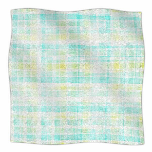 Watercolour Tartan Fleece Blanket by East Urban Home
