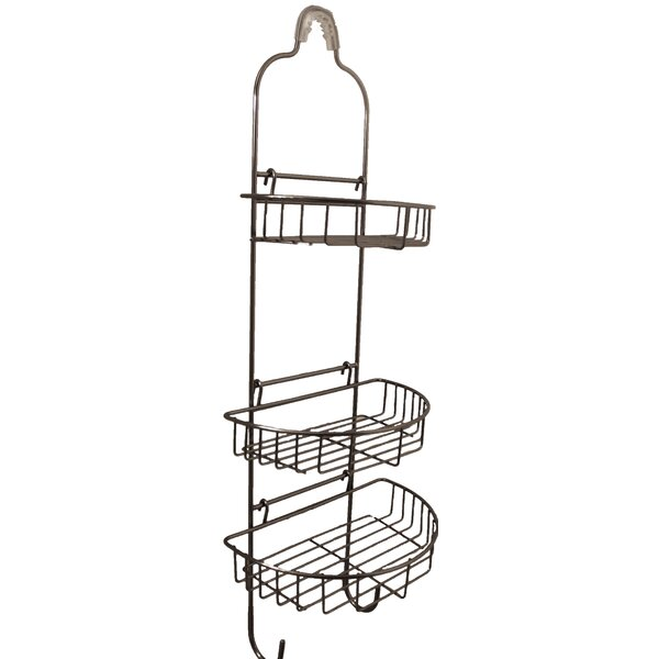 Banach Adjustable Oval Basket Shower Caddy by Rebrilliant