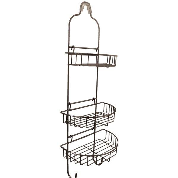 Banach Adjustable Oval Basket Shower Caddy by Rebrilliant