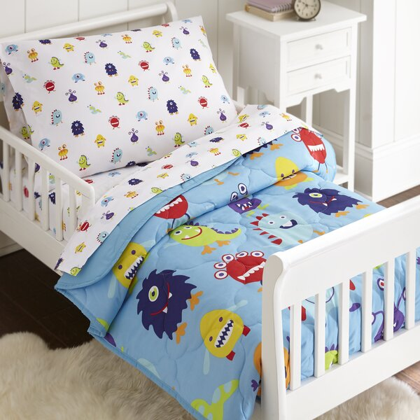 Monsters 4 Piece Toddler Bedding Set by Wildkin