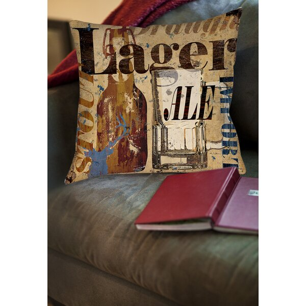 Old Lager Printed Throw Pillow by Manual Woodworkers & Weavers
