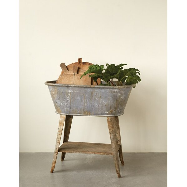 Chacra Metal Truck Ship Basin with Stand by Laurel Foundry Modern Farmhouse