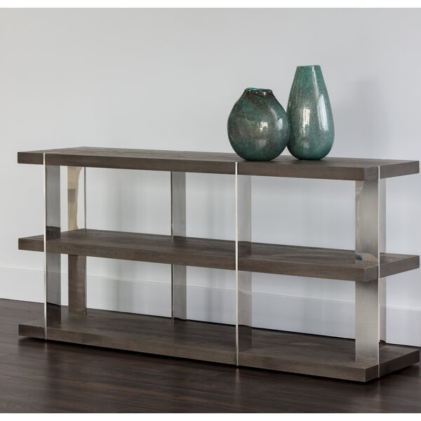 Mazury Smoked Console Table By Orren Ellis