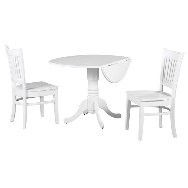 Shorewood 3 Piece Drop Leaf Solid Wood Dining Set By August Grove 2019 Coupon