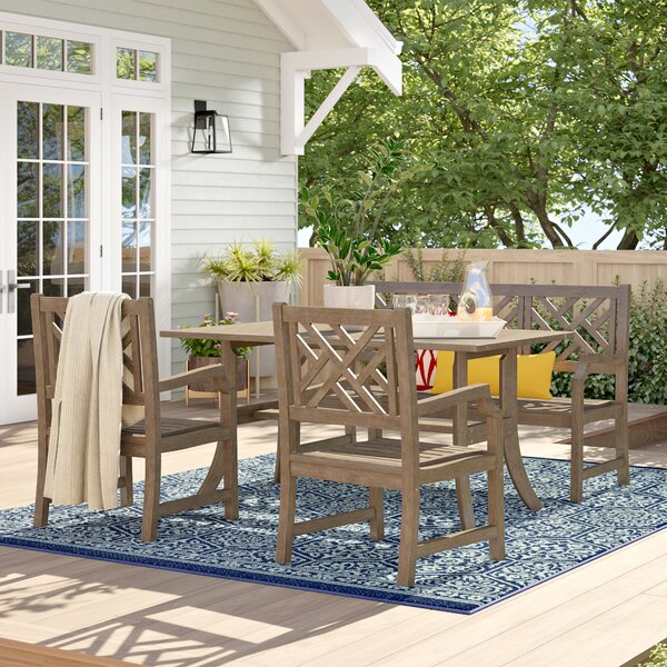 Manchester 4 Piece Dining Set by Sol 72 Outdoor