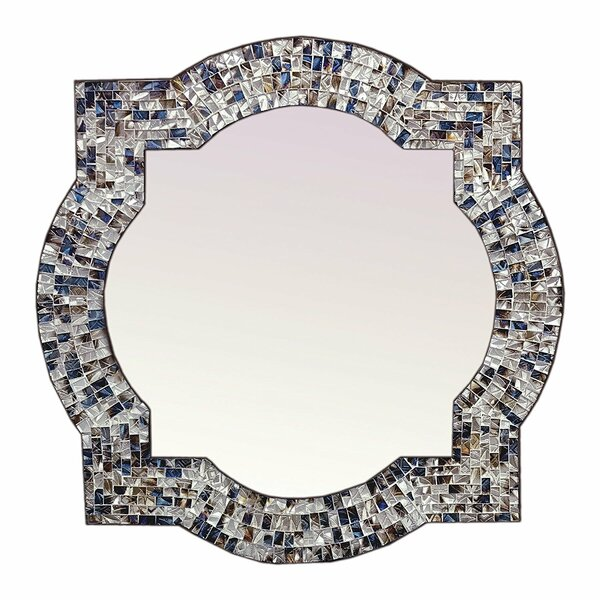 Contemporary Mosaic Quatrefoil Wall Mirror by Bloomsbury Market