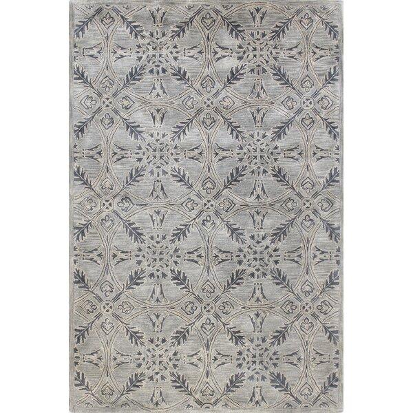 Rajput Hand-Woven Wool Gray Area Rug by Bashian Ru