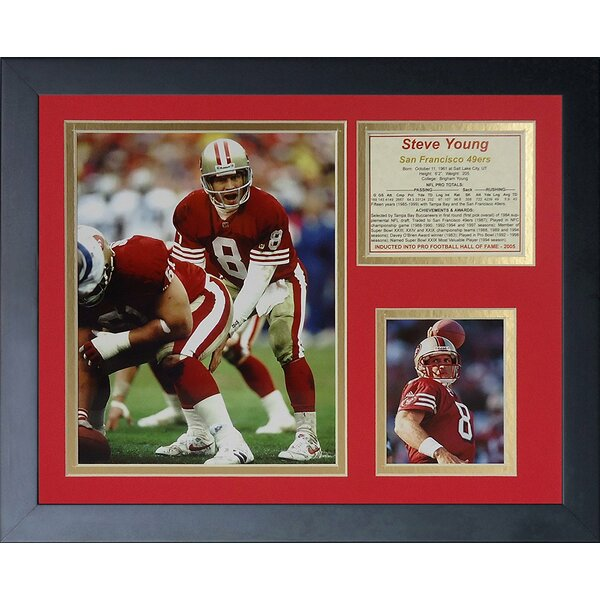 Steve Young Framed Memorabilia by Legends Never Die