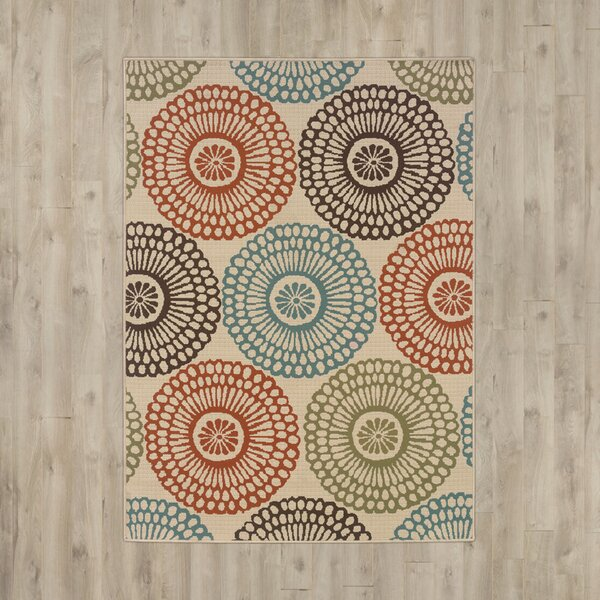 Douane Orange/Brown Area Rug by Bungalow Rose
