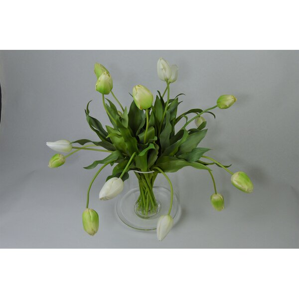 Tulips Floral Arrangements in Vessel by T&C Floral Company