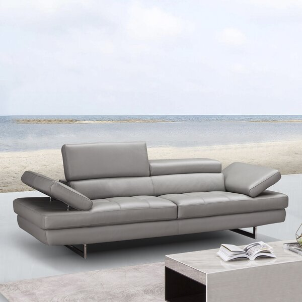Maxwell Leather Sofa by Orren Ellis