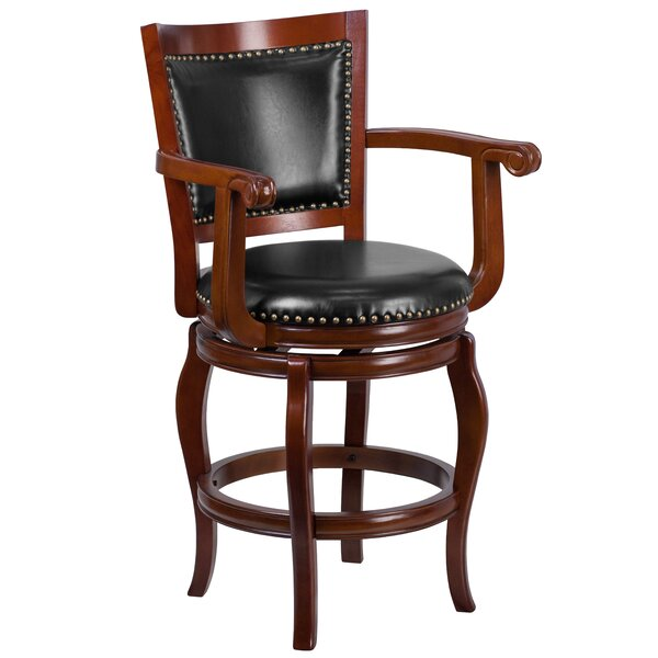 Sharonville 26 Swivel Bar Stool by Three Posts