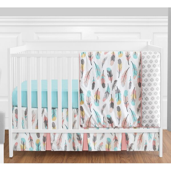 Feather 4 Piece Crib Bedding Set by Sweet Jojo Designs