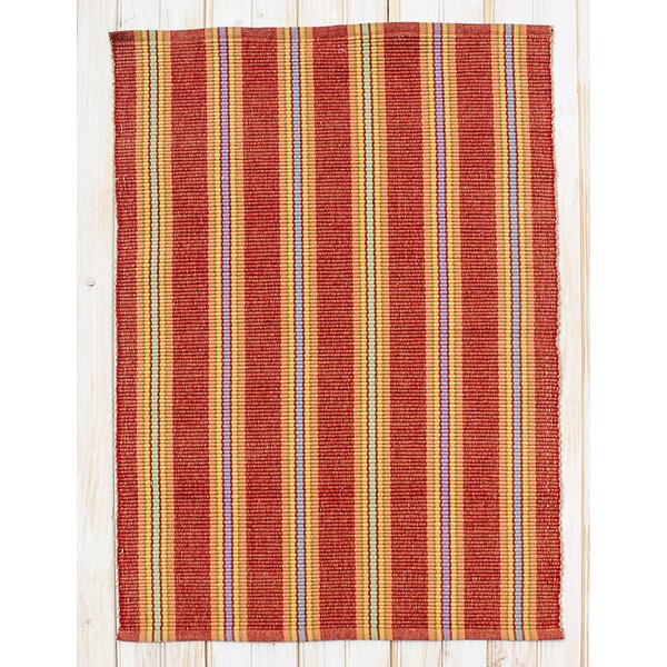Chatham Red Clay Stripe Area Rug by CLM