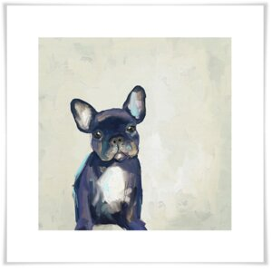 'Best Friend - Frenchie Pup' by Cathy Walters Painting Print by GreenBox Art
