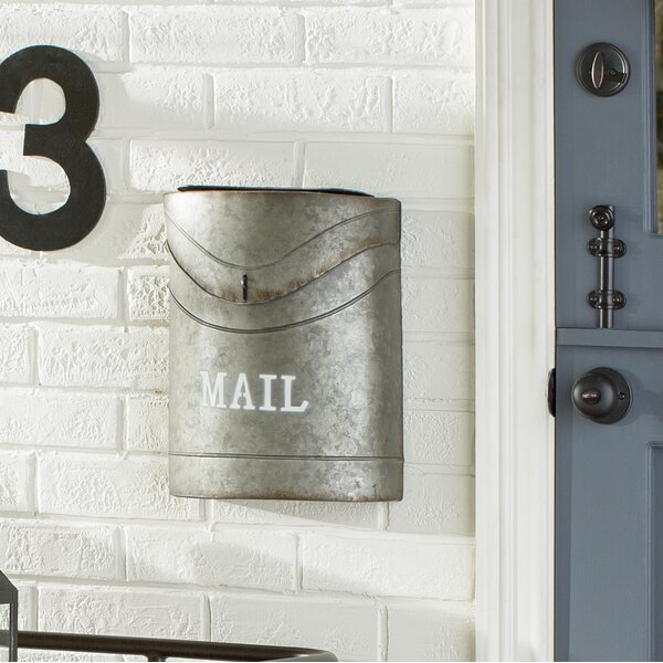 Kinley Industrial Style Wall Mounted Mailbox by NACH