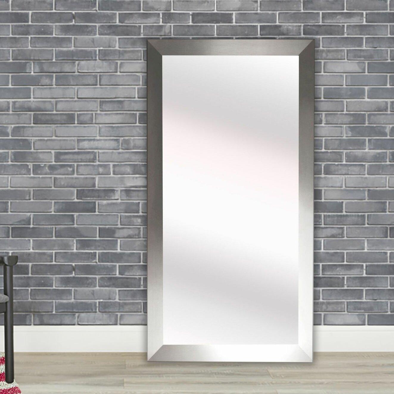 Latitude Run Hogge Modern Silver Full Length Mirror in , A & Reviews ...