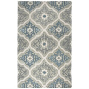 Venedy Hand-Tufted Wool Blue/Gray Area Rug