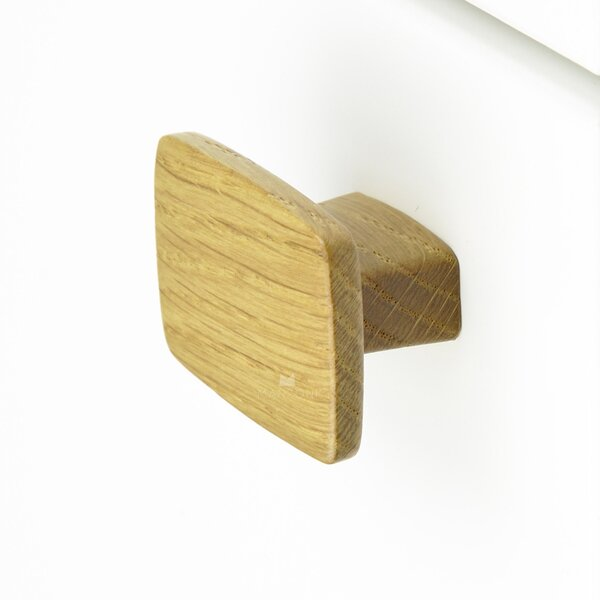 Designer Wood Square Knob by Manzoni