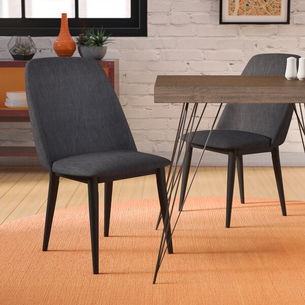 Dicus Upholstered Dining Chair (Set of 2) by Ebern Designs