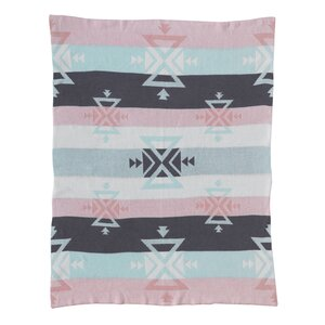 Sparrow Aztec Knitted Cotton Blanket