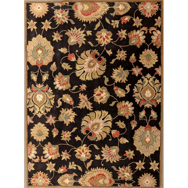 Demartini Indian Handmade Wool Black Area Rug by Darby Home Co