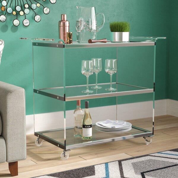 Digennaro Acrylic Bar Cart by Orren Ellis