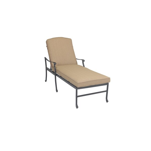 Carder Reclining Chaise Lounge with Cushion by Darby Home Co
