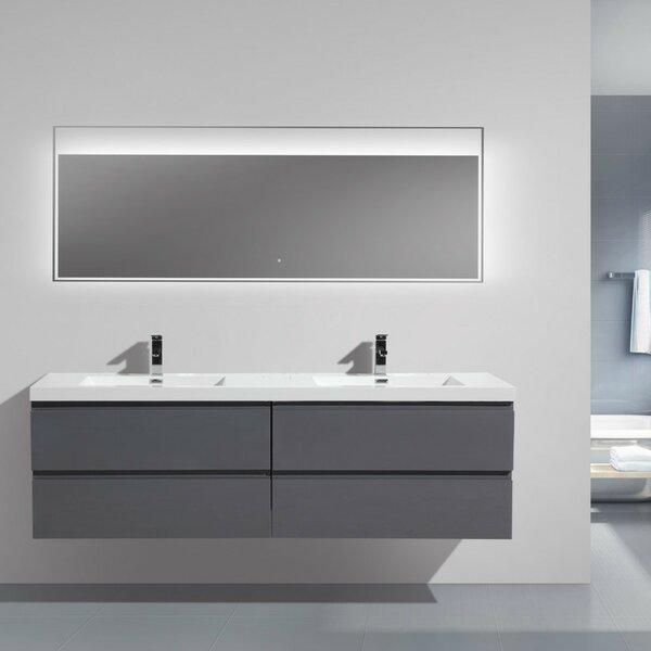 Lina 70 Wall Mounted Double Bathroom Vanity Set