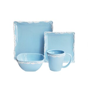 Suanne Wave 16 Piece Dinnerware Set