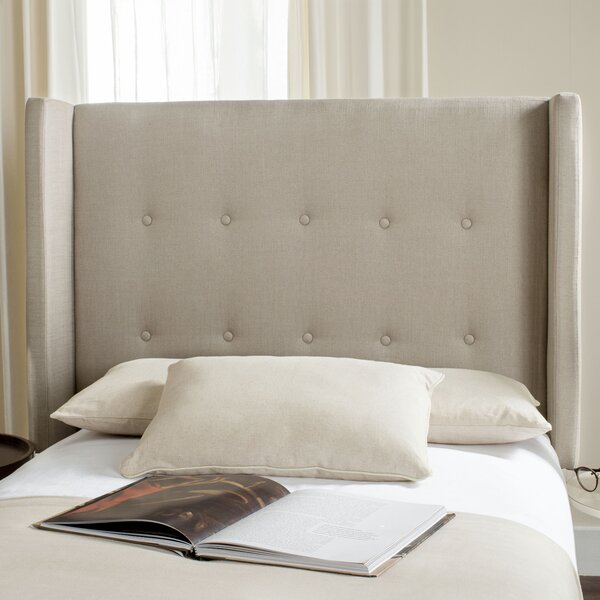 Davin Upholstered Wingback Headboard by Darby Home Co