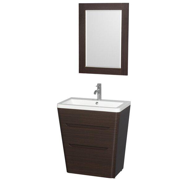 Caprice 30 Single Espresso Bathroom Vanity Set with Mirror by Wyndham Collection