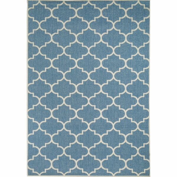 Halloran Blue Indoor/Outdoor Area Rug by Highland Dunes