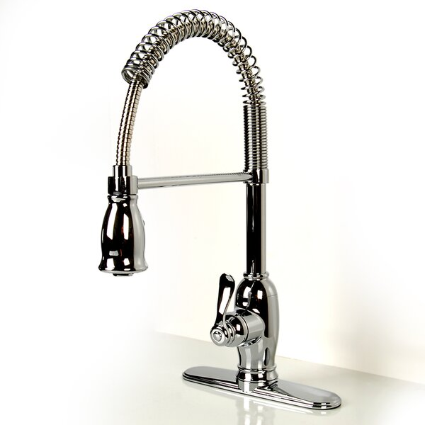 Pull Down Single Handle Kitchen Faucet by D'Vontz