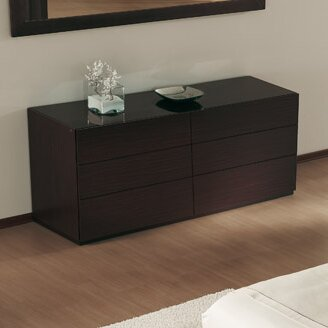 City 6 Drawer Double Dresser by Calligaris