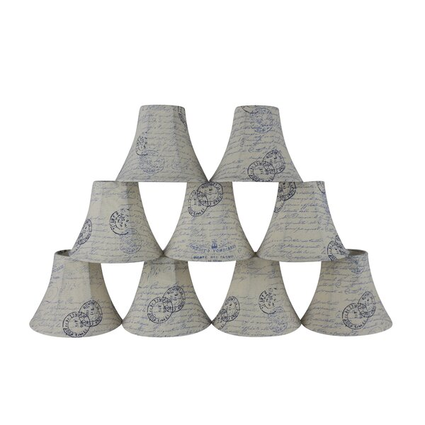 5 H x 6 W Faux Linen Bell Candelabra Shade ( Clip On ) (Set of 9)