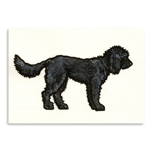 Labradoodle Black Painting by East Urban Home