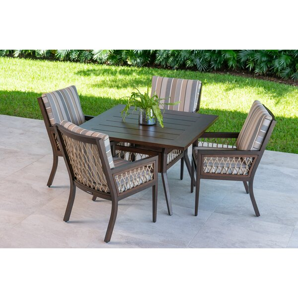 Echo Bay 5 Piece Dining Set with Sunbrella Cushions by Eddie Bauer