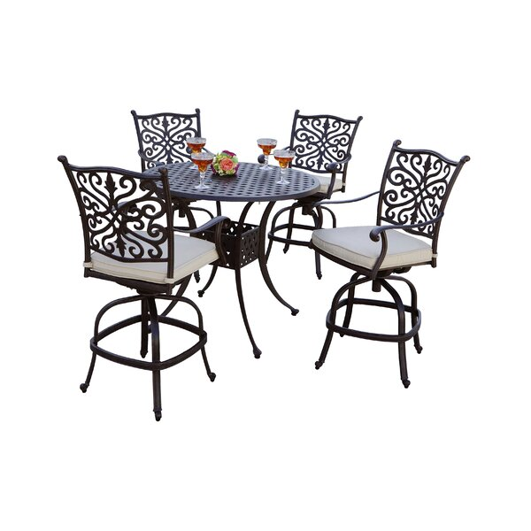 Archway 5 Piece Bar Height Dining Set with Cushions by Astoria Grand