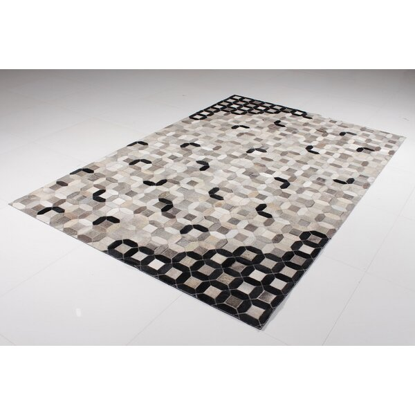 Bernier Terllis Hide Cowhide Black Area Rug by Brayden Studio