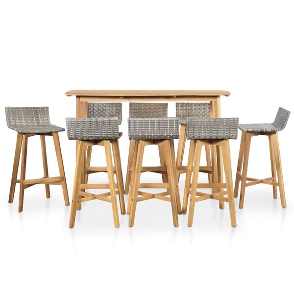 Felty 9 Piece Dining Set by Highland Dunes