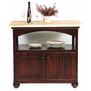 American Premiere Kitchen Island with Butcher Block Top by Eagle Furniture Manufacturing Cheap