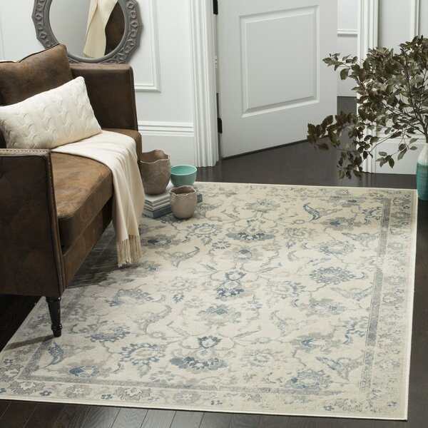 Curtis Viscose Fibre  Green/BlueArea Rug by Darby Home Co